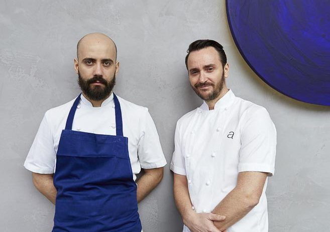 Portraits of Jason Atherton and Alex Cracuin